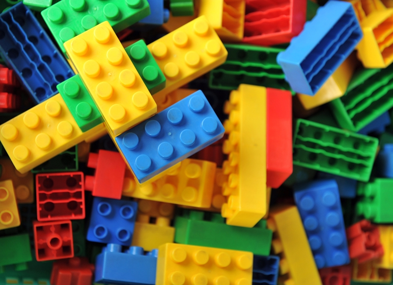 Building with Legos is a great way to improve spatial awareness.